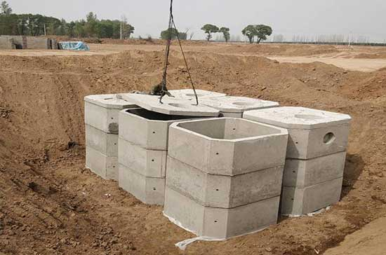 水泥化粪池施工案例