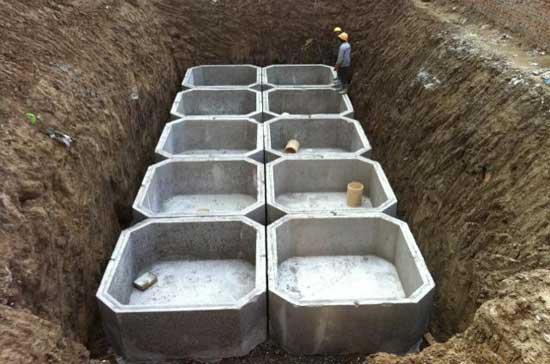 钢筋混凝土化粪池施工